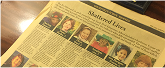 Newspaper Headline - Victims