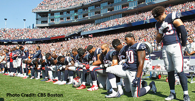 Patriots Players Kneel in Protest