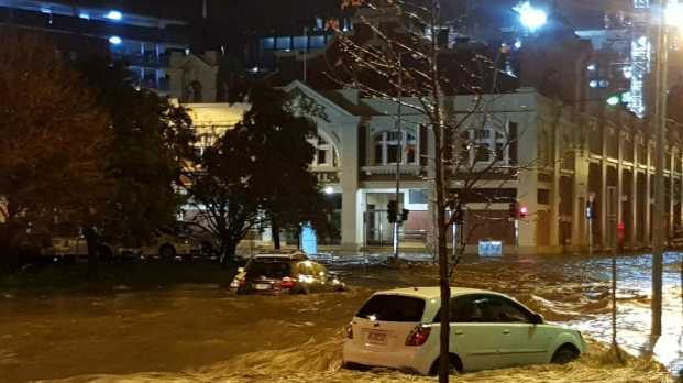 Fossil Fuels - Flooding in Hobart, Australia