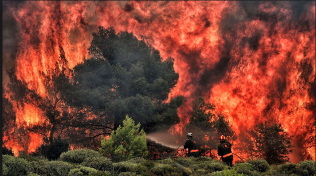 July FIrestorms in Greece - Heatwaves